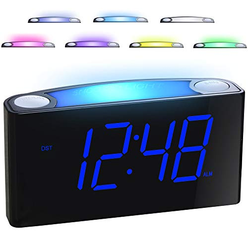 dual alarm clock radio with battery backup